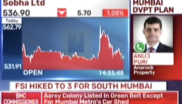 Anuj Puri Discusses FSI Levels and Real Estate in Mumbai on Bloomberg TV